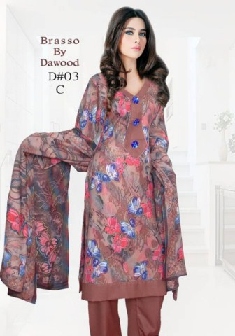Dawood Textile Women Brasso Printed Outfits 2014 (7)