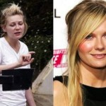 Kirsten Dunst with make and without makeup