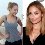Nicole Richie with make and without makeup