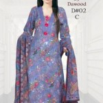 Dawood Brasso Printed Khaddar Outfits 2014 (3)