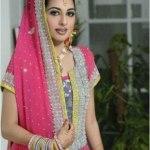Bridal Mehndi Wedding Waleema Multi Colored Dresses 2014 (12)