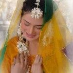 Bridal Mehndi Wedding Waleema Multi Colored Dresses 2014 (3)