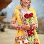 Bridal Mehndi Wedding Waleema Multi Colored Dresses 2014 (4)