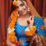 Bridal Mehndi Wedding Waleema Multi Colored Dresses 2014 (8)