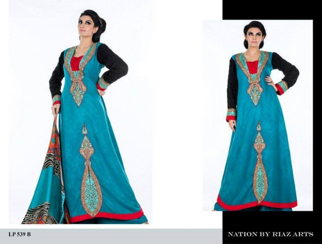 Nation Winter Dresses by Riaz Art For Women (5)