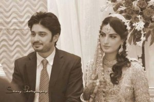 Tv Drama Actor Babar Khan Wedding Pictures with Sana Khan (9)