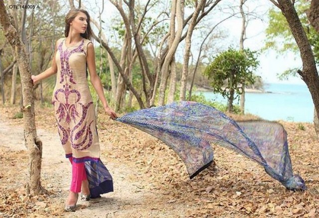 latest mid summer lawn dresses for women 2014