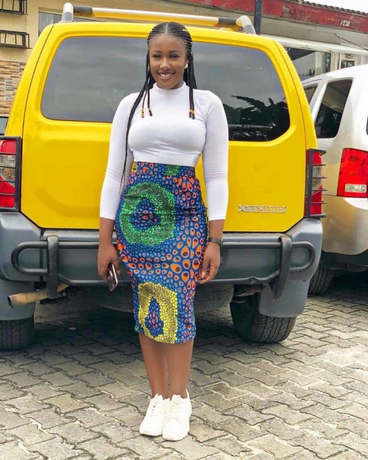 15 PHOTOS: Unique Ankara Skirts For Ladies - African Print Skirts 2020