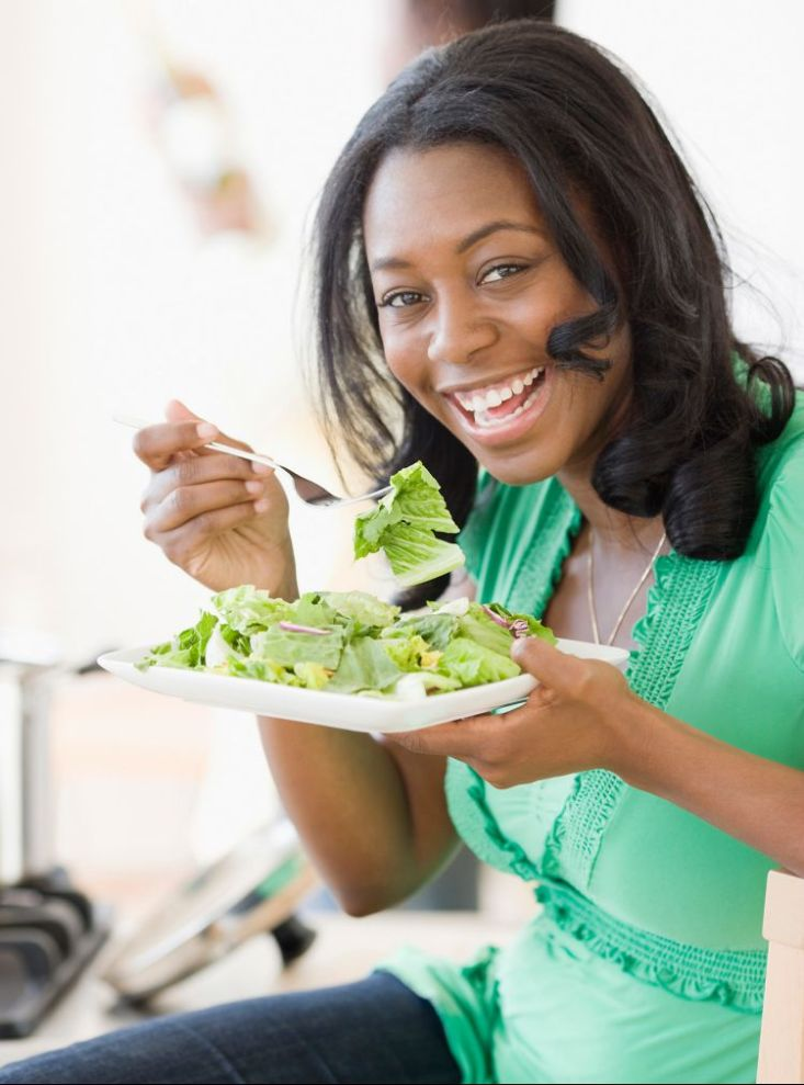 lady eating healthily