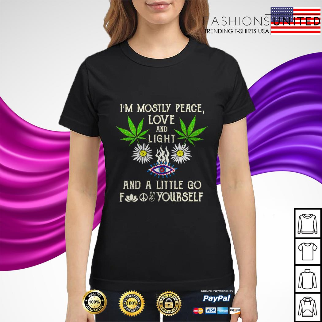 Download I'm mostly peace love and light and a little go yourself shirt