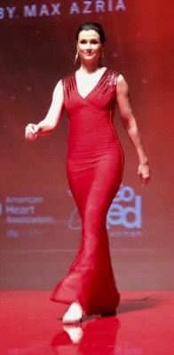 Bridget Moynihan Red Dress Show