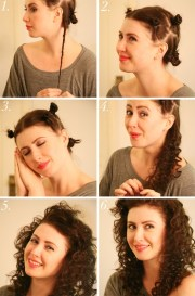 hair tutorials curly