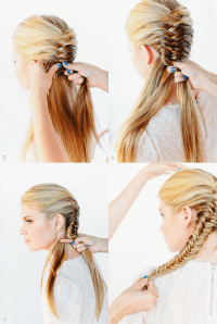 4 Strand Braid Tutorial Cute School Hairstyle For Long ...