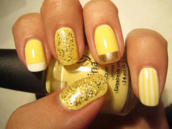 Yellow Nail Design Sunny Days
