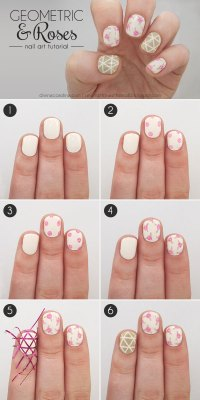 16 Interesting Nail Tutorials For Short Nails - fashionsy.com