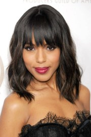 hair trend - wavy lob hairstyle