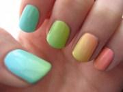 fun gradient nail design