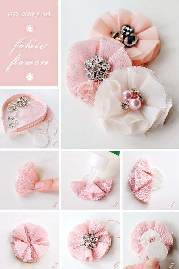paper flower brooch