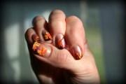 fall inspired nail design