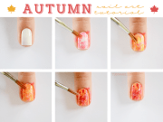super easy step-step fall nail