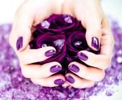 fall nail trend - dark purple