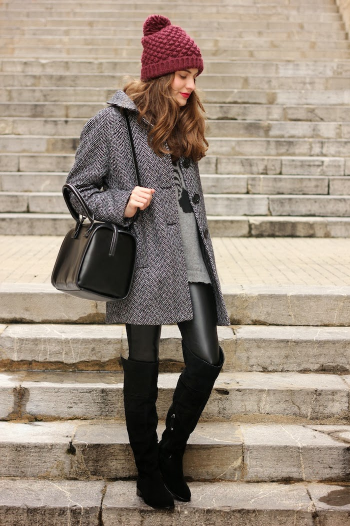 Fall Outfit Ideas With Over The Knee Boots  fashionsycom