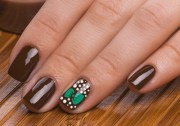brown nail design