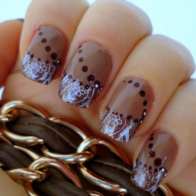 16 Brown Nail Designs To Try This Fall  fashionsycom