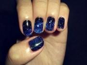 great navy nail design