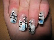 gorgeous winter inspired nail design