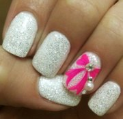 beautiful glitter nail design