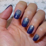 great navy nail design