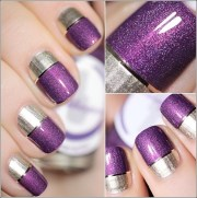 two-toned nail design