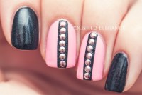 Eye-Catching Nail Designs With Studs - fashionsy.com