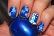 cute snowman nail design copy