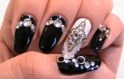 fascinating crystal nails