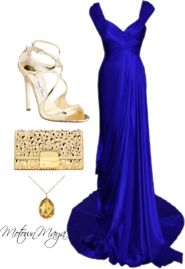 15 Blue Polyvore Outfits For Your Next Special Occasion
