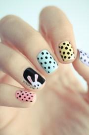 spring pastel nail design