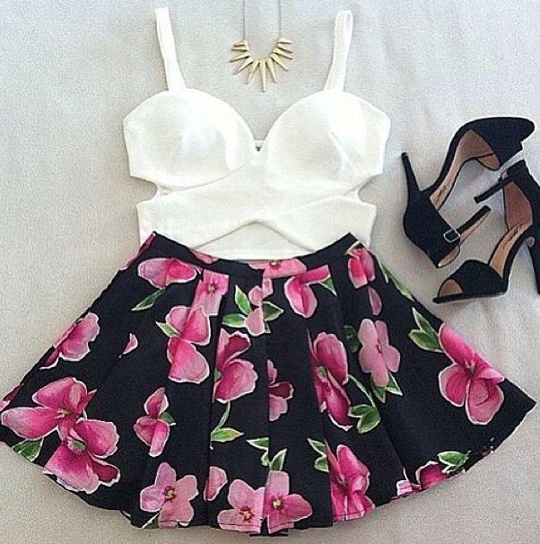 Skirt Bustier Tops