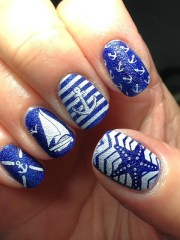 nautical anchor nail art design