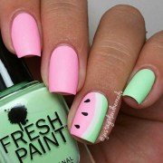 fun watermelon nail design perfect