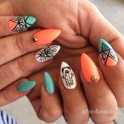 fabulous summer stiletto nail design