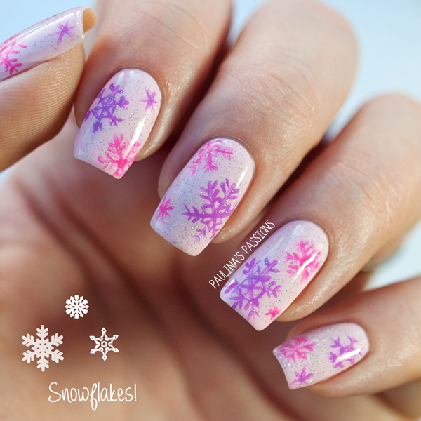 18 Easy And Simple Snowflake Nail Art Designs Tutorial