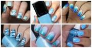 serenity blue nail design