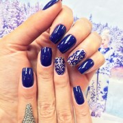 beautiful royal blue nail design