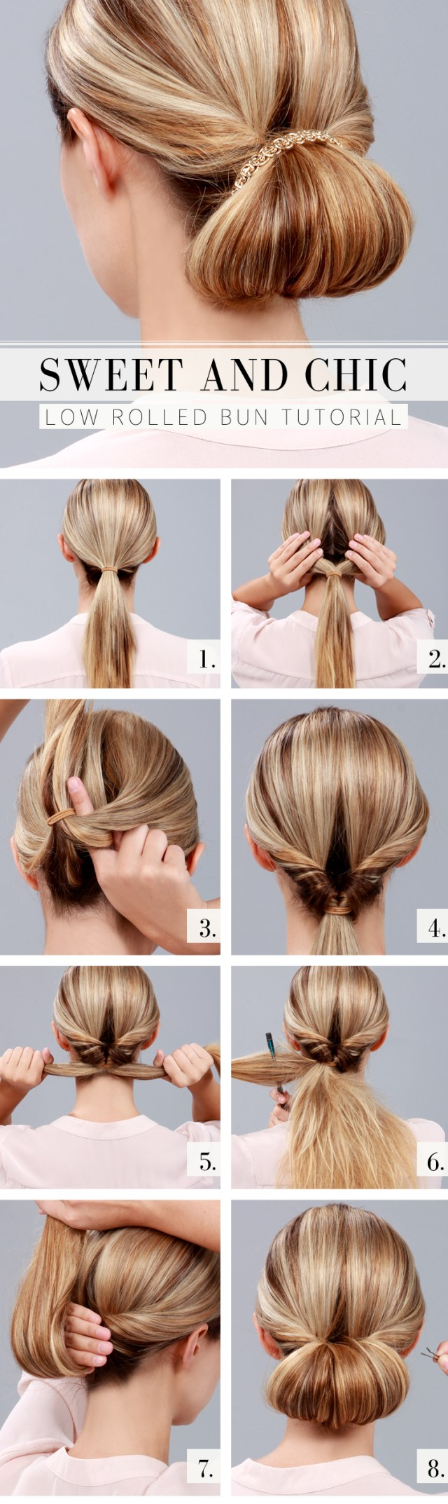 low bun hair tutorials and celebrity looks - fashionsy