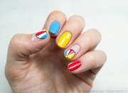 beautiful beach nail design