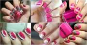 hot pink nail design