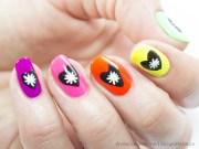 neon nail design copy