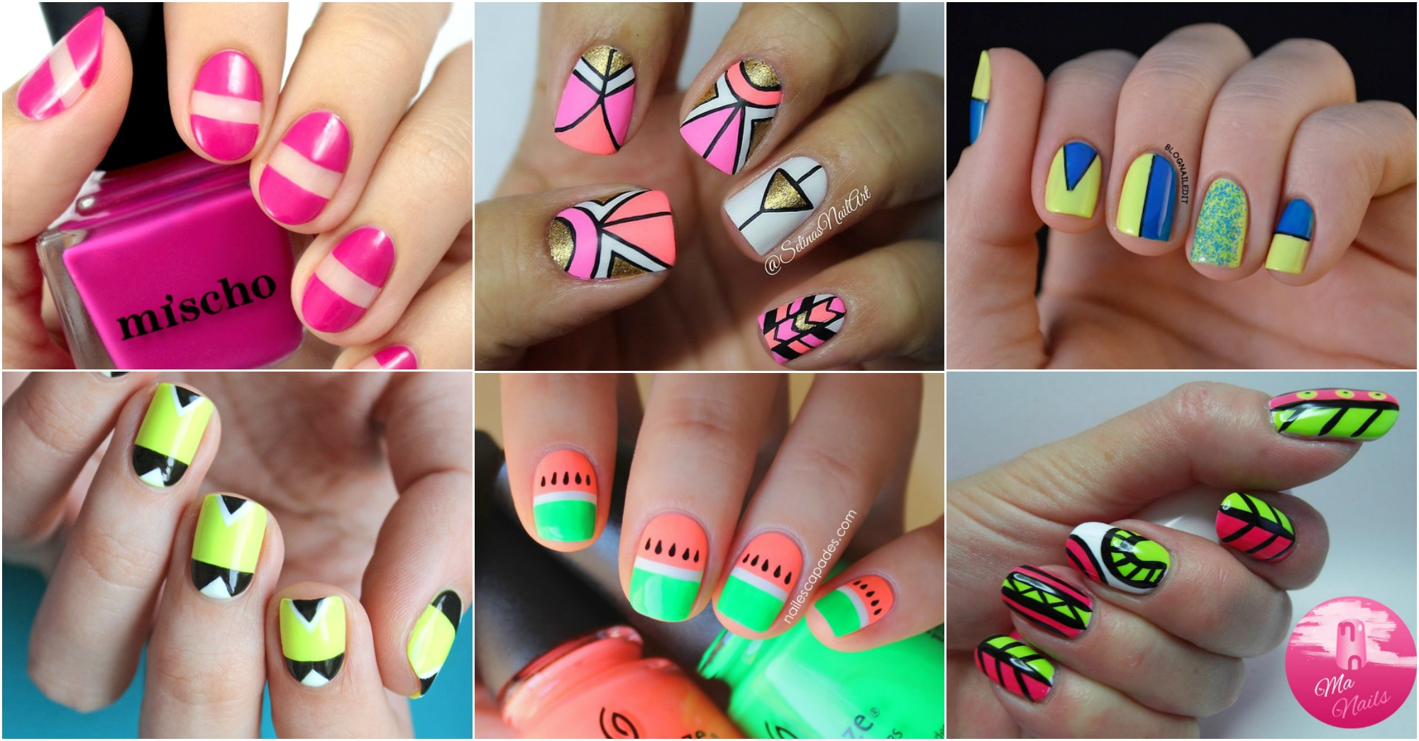 16 Neon Nail Designs To Copy This Summer  fashionsycom